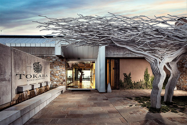 The Entrance to Tokara Vineyard Stellenbosch in the Cape Winelads of South Africa - Luxury Wine Trails exclusive - Cape Town wine & food tours