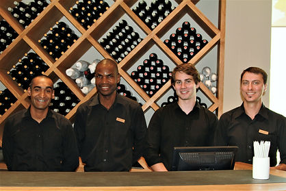 The friendly & professional tasting team at Leeu Estate vineyards - Franschhoek - Cape Winelands - Luxury Wine Trails - Wine & Food Tasting Vineyard Tours South Africa