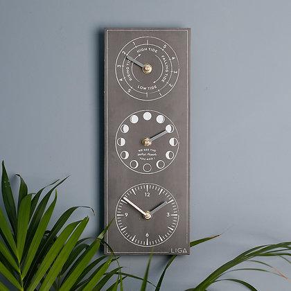 LIGA Tide, Time, & Moon Clock