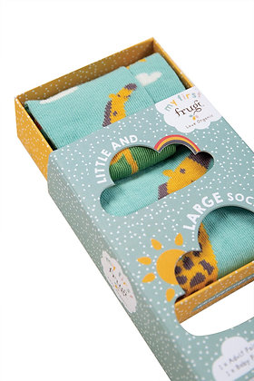 Frugi Little and Large Socks- Giraffe