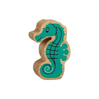 Lanka Kade Natural Wooden Green Seahorse NC282