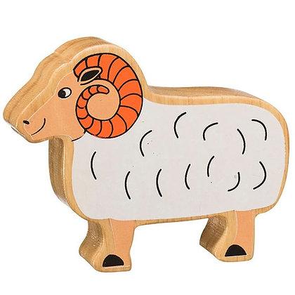 Lanka Kade Natural Wooden White Ram NC117