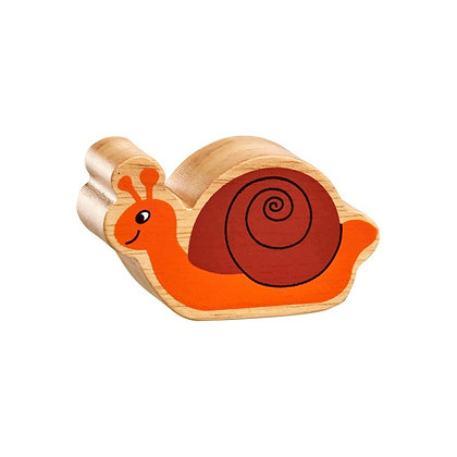 Lanka Kade Natural Wooden Brown and Orange Snail NC136