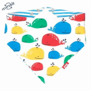 Kite Organic Cotton Rainbow Whale Bib