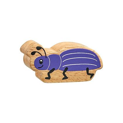 Lanka Kade Natural Wooden Purple Beetle NC194