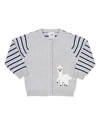 Kite Knitted Organic Cotton Alpaca Cardigan