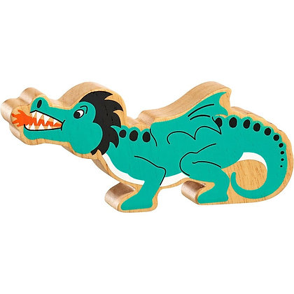 Lanka Kade Natural Wooden Turquoise Dragon NC351