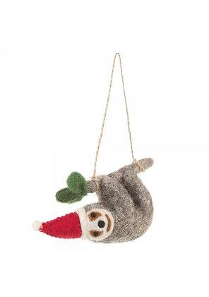 Felt So Good- Christmas Sloth Ornament