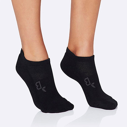 Boody Women's Sport Ankle Socks- Black