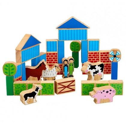 Lanka Kade Natural Wooden Farm Building Blocks BB17