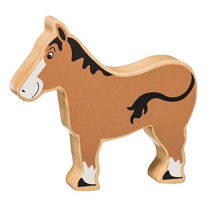 Lanka Kade Natural Wooden Brown Horse NC107