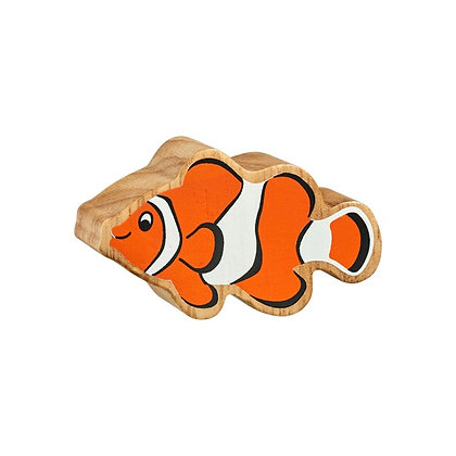 Lanka Kade Natural Wooden Orange and White Clownfish NC281