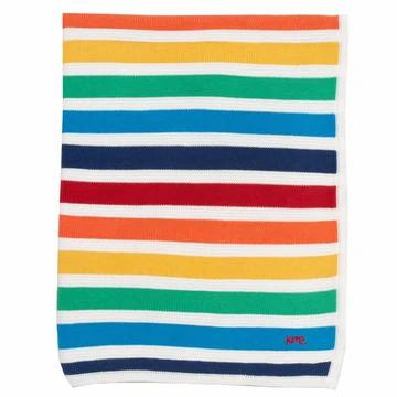 Kite Organic Rainbow Knit Blanket