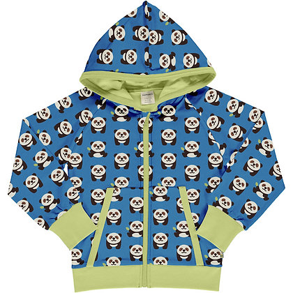 Maxomorra Zip Hoodie - Playful Panda