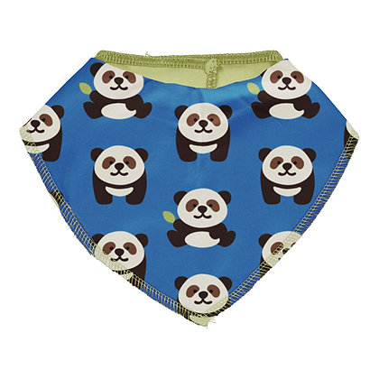 Maxomorra Dribble Bib- Playful Panda