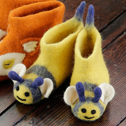 Piccalilly Wool Felted Animal Slippers