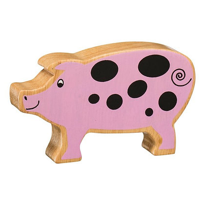 Lanka Kade Natural Wooden Pink Pig NC101