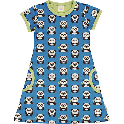 Maxomorra Short Sleeve Dress - Playful Panda