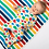 Thumbnail: Kite Organic Rainbow Knit Blanket