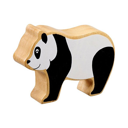 Lanka Kade Natural Wooden Black and White Panda NC256