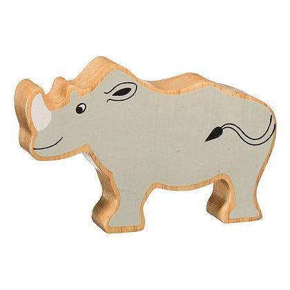 Lanka Kade Natural Wooden Grey Rhino NC251