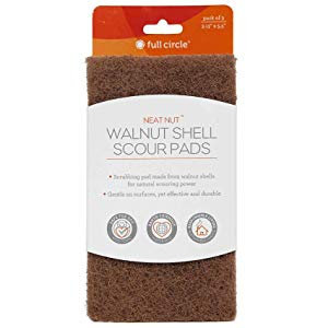 Full Circle- Neat Nut Walnut Shell Scour Pads (Pack of 3)