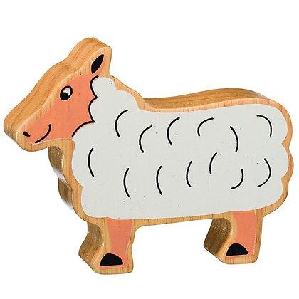 Lanka Kade Natural Wooden White Sheep NC105