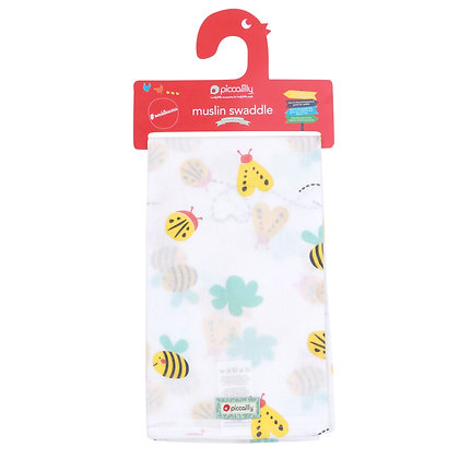 Piccalilly Muslin Swaddle- Bumblebee