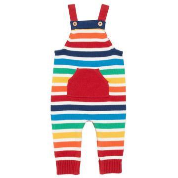 Kite Organic Baby Rainbow Knit Dungarees