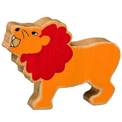Lanka Kade Natural Wooden Yellow Lion NC268