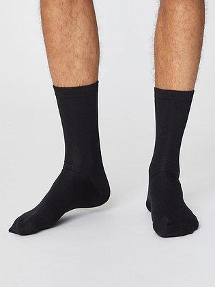 Thought Jimmy Plain Bamboo Socks - Black