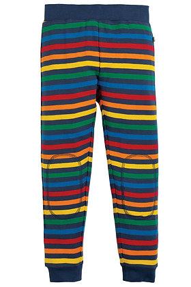Frugi Leap About Cuffed Leggings- Rainbow Stripe