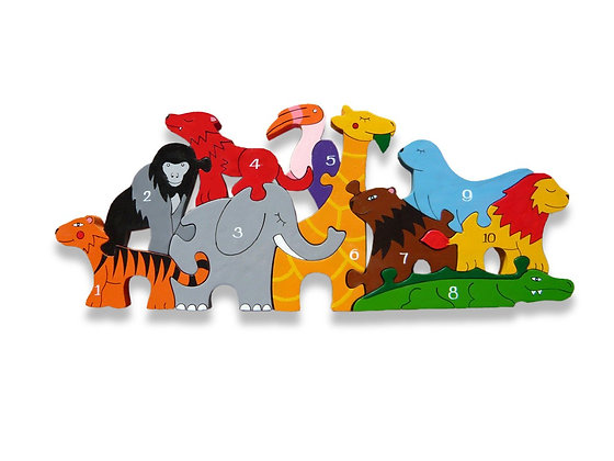Alphabet Jigsaws- Number Zoo Puzzle