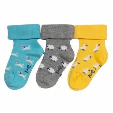 Kite Organic 3 Pack Farm Garden Socks
