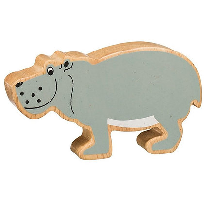 Lanka Kade Natural Wooden Grey Hippo NC267