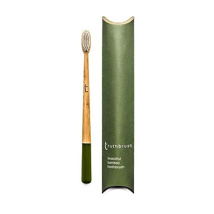 Truthbrush Bamboo Toothbrush - Olive - Medium