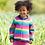 Thumbnail: Kite Organic Rainbow Knitted Cardigan