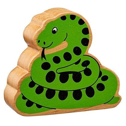 Lanka Kade Natural Wooden Green Snake NC253