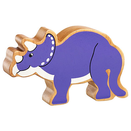 Lanka Kade Natural Wooden Purple Triceratops NC306