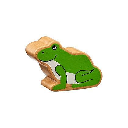 Lanka Kade Natural Wooden Green Frog NC264