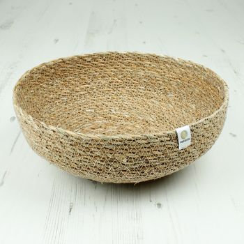 Respiin Seagrass Large Bowl - Natural