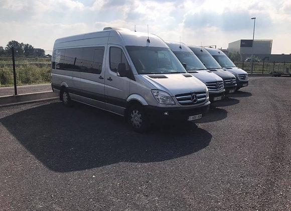 Mercedes sprinter minibus klein rijbewijs B 8+ 1 plaatsen
