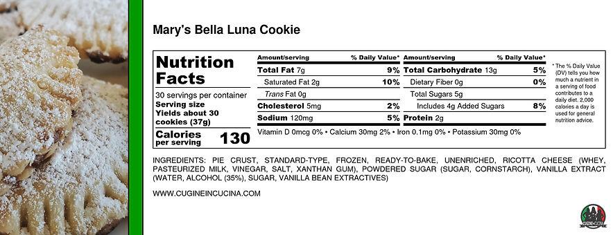 Mary's Bella Luna Cookie - Nutrition Lab