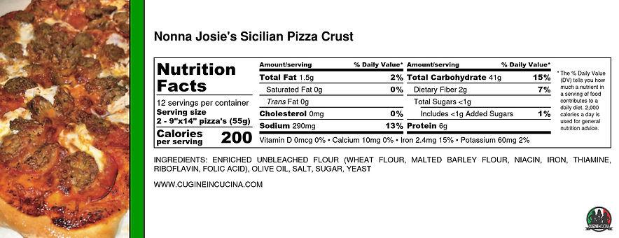 Nonna Josie's Sicilian Pizza Crust - Nut