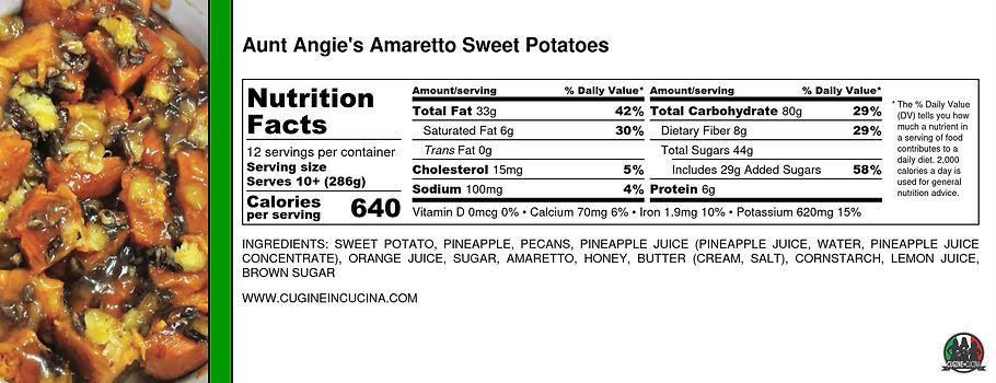 Aunt Angie's Amaretto Sweet Potatoes - N