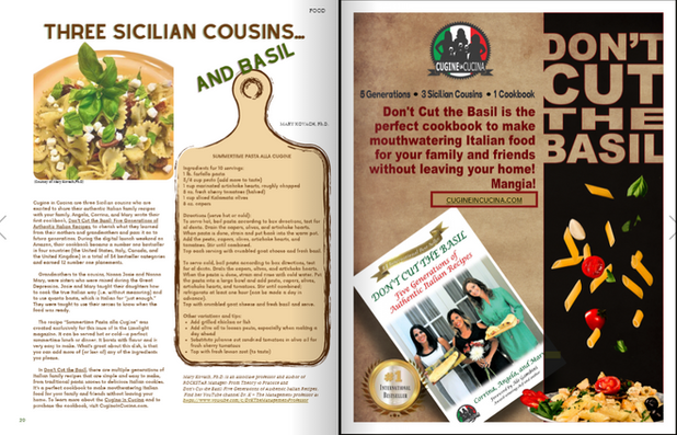 Cugine's Exclusive Recipe Featured in the Magazine In the Limelight!