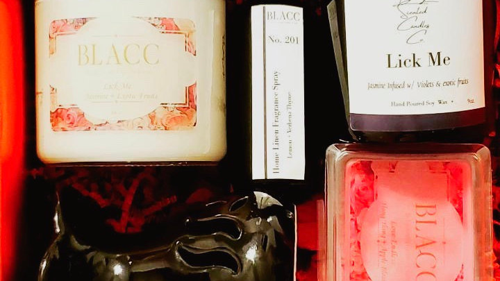 BLACC Gift Set Candles + Care