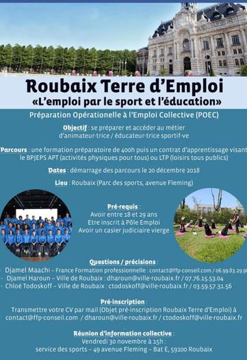 L'emploi par le SPORT et l'EDUCATION, Venez découvrir !!!