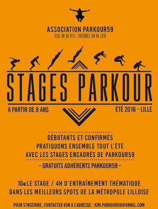 Stages Parkour59 tout l'été !