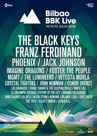 Diez nuevas confirmaciones para el BBK Live 2014